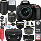Nikon D3500 DSLR Camera w/ AF-P DX 18-55mm & 70-300mm Zoom L