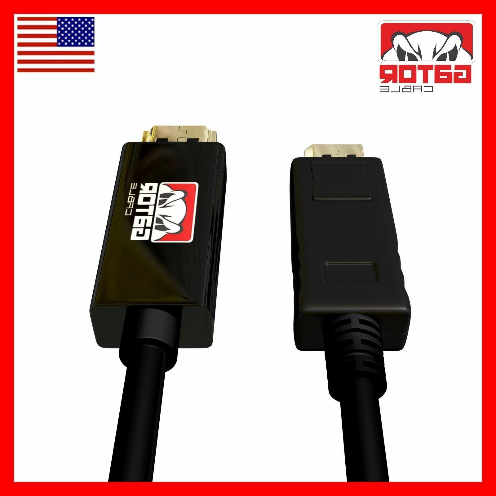 Display Port to Cable Adapter Video to HDMI 6FT