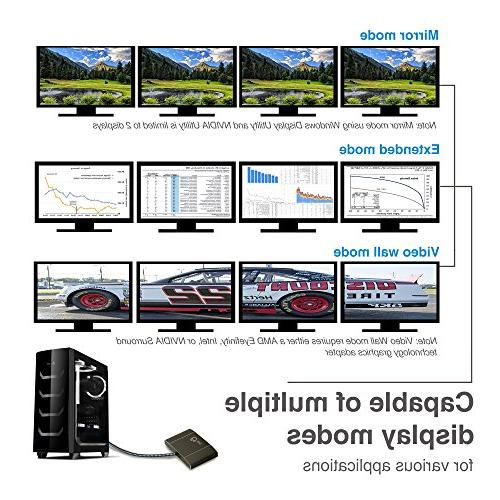 SIIG to MST 4k UHD - DP to Monitor Splitter Transport Technology HD to 3840x2160 @30Hz Mirror, Extended, Video Wall