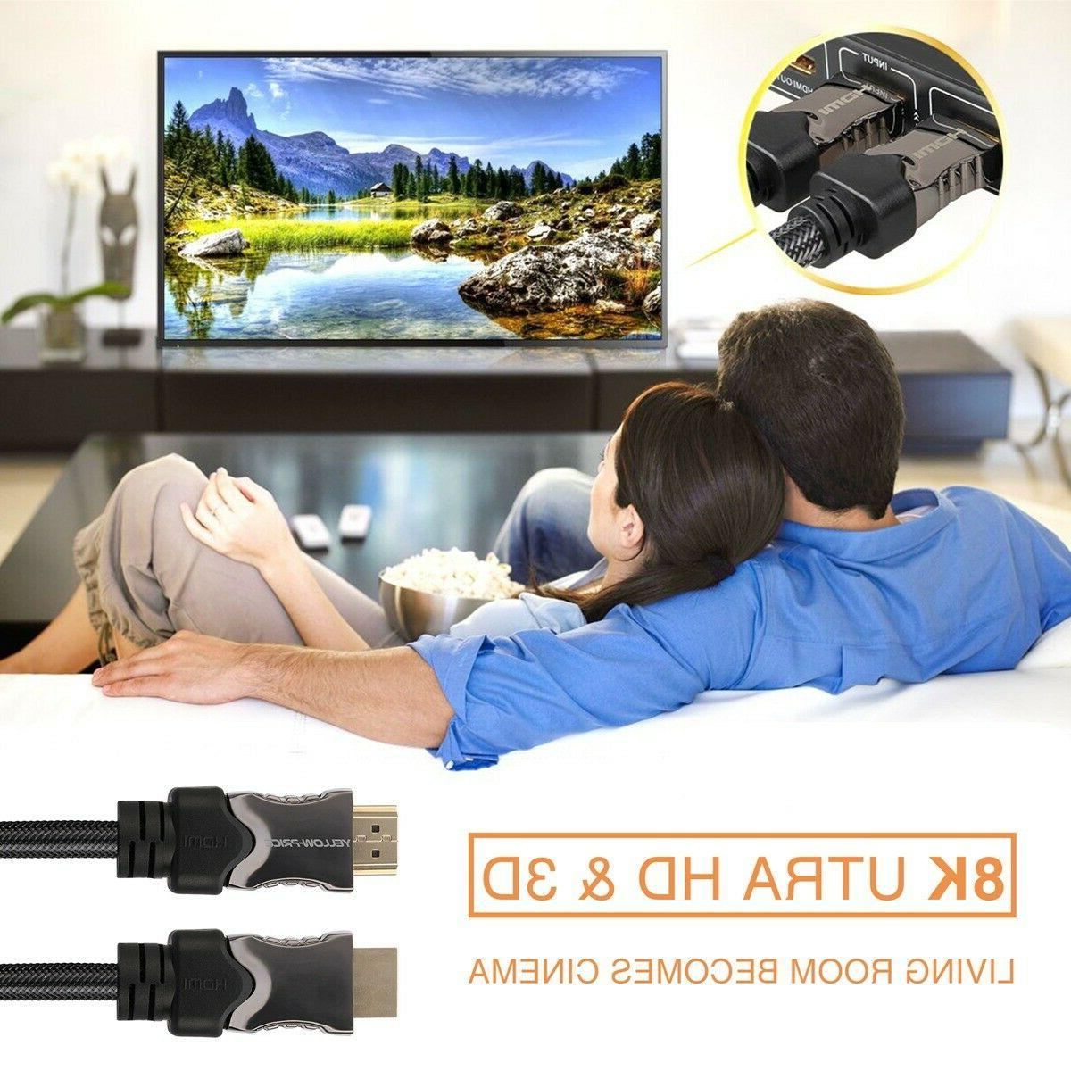 8K 4K Braided HDMI 3D 2.2 Lot