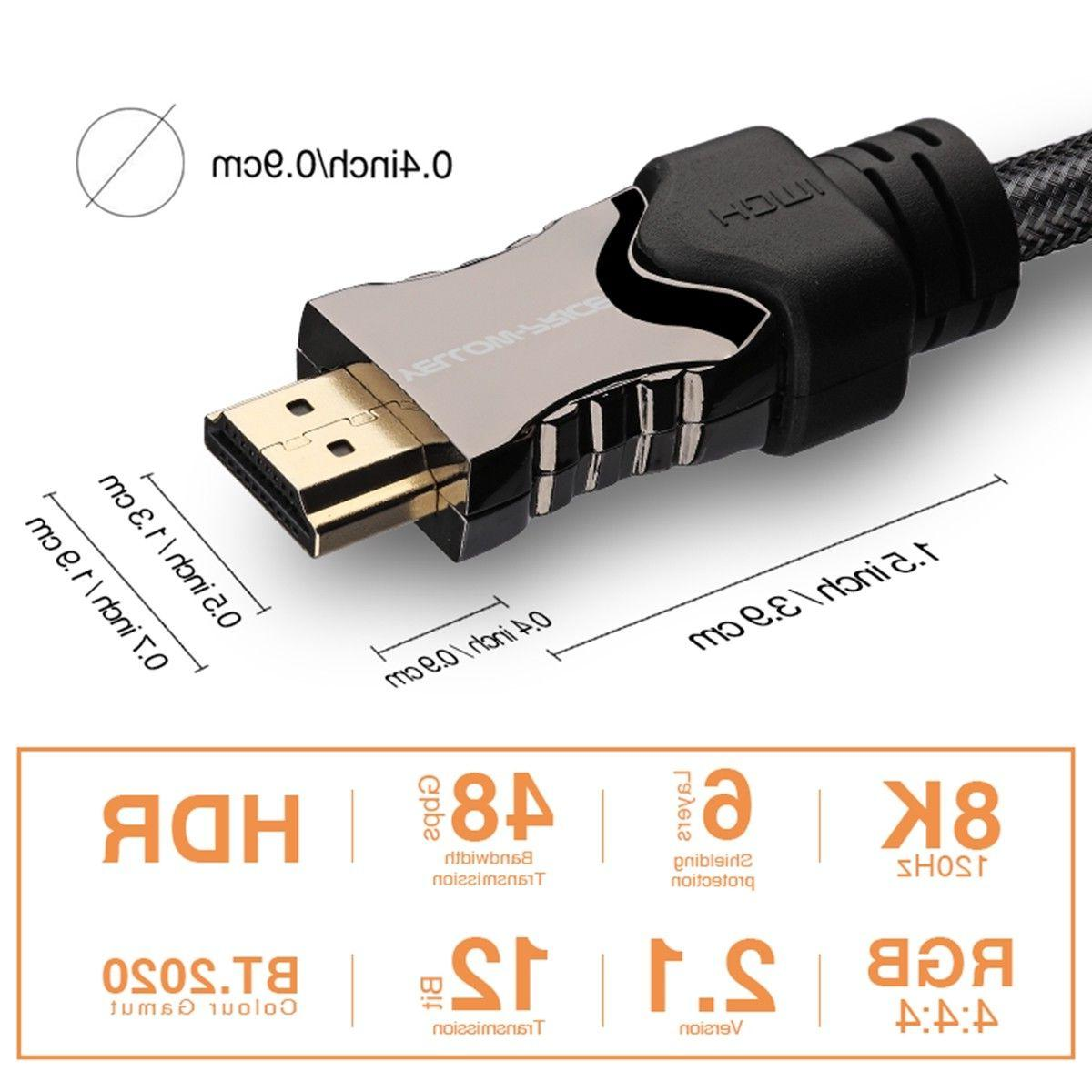 3FT 48Gbps Braided HDMI Cable eARC