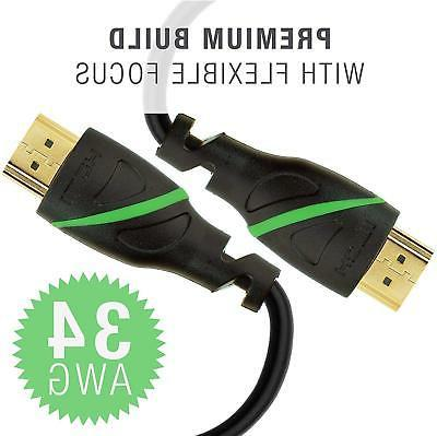 Mediabridge Series HDMI Cable 6 Feet Supports 4K@50/60Hz, High Speed,