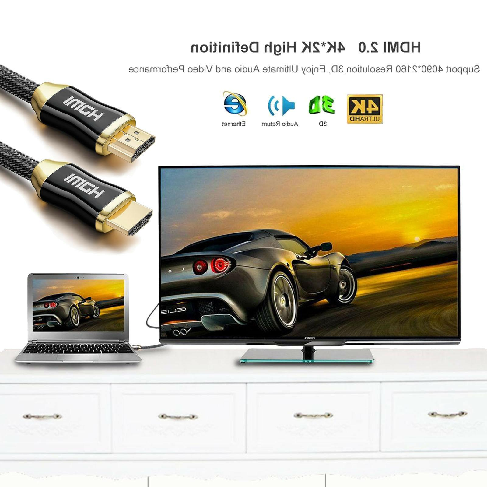 HDMI Cable 50ft 60Hz HDR, ARC, HDCP2.2, 3D 18Gbps 4:4:4/4:2:2/4:2:0