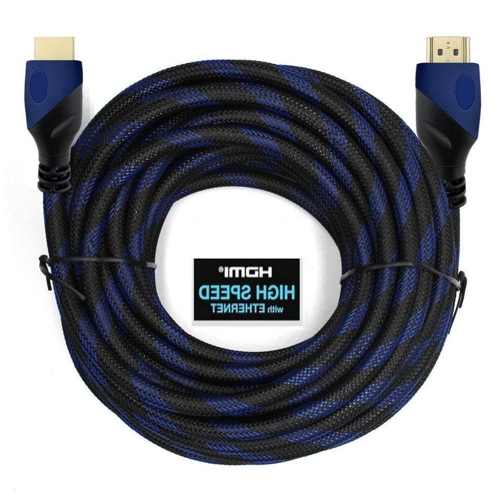 HDMI 1.4 CABLE 6FT 10FT 30FT 50FT 75FT HIGH Blue
