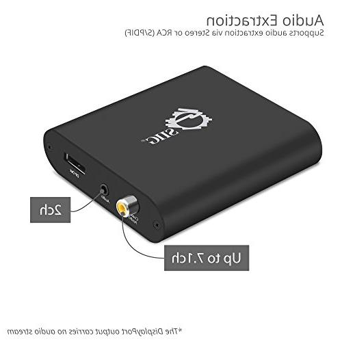 SIIG DisplayPort Converter 4:4:4 HDMI to 18Gbps 2.2 | Extraction to Stereo Firmware Upgradeable Only 1080p for Monitors