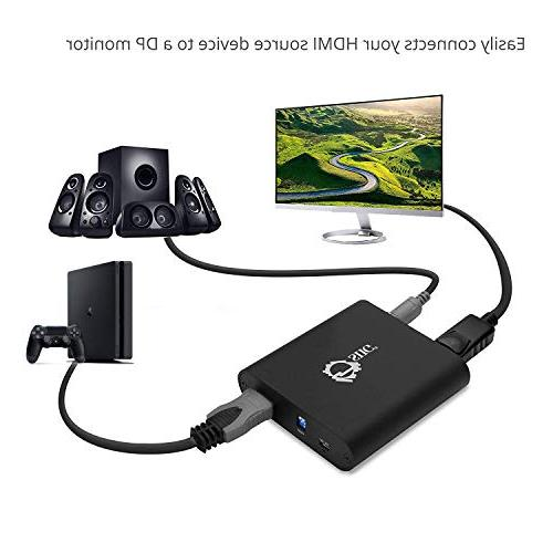 SIIG HDMI 2.0 to DisplayPort 4:4:4 HDMI to 18Gbps 2.2   to Stereo Firmware   1080p Monitors