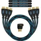 Twisted Veins HDMI Cabl 6 ft, 3-Pack, Premium HDMI Cord Type