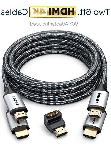 PowerBear HDMI 4K HDMI Gold Connectors and High-Strength Cord