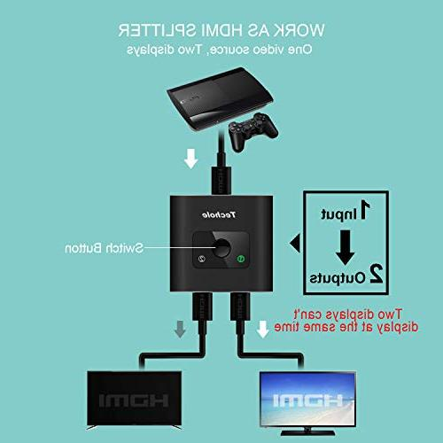 HDMI 4K HDMI Bi-Directional HDMI Switcher In 2 No External Power Required, Supports 4K 3D 1080P Xbox