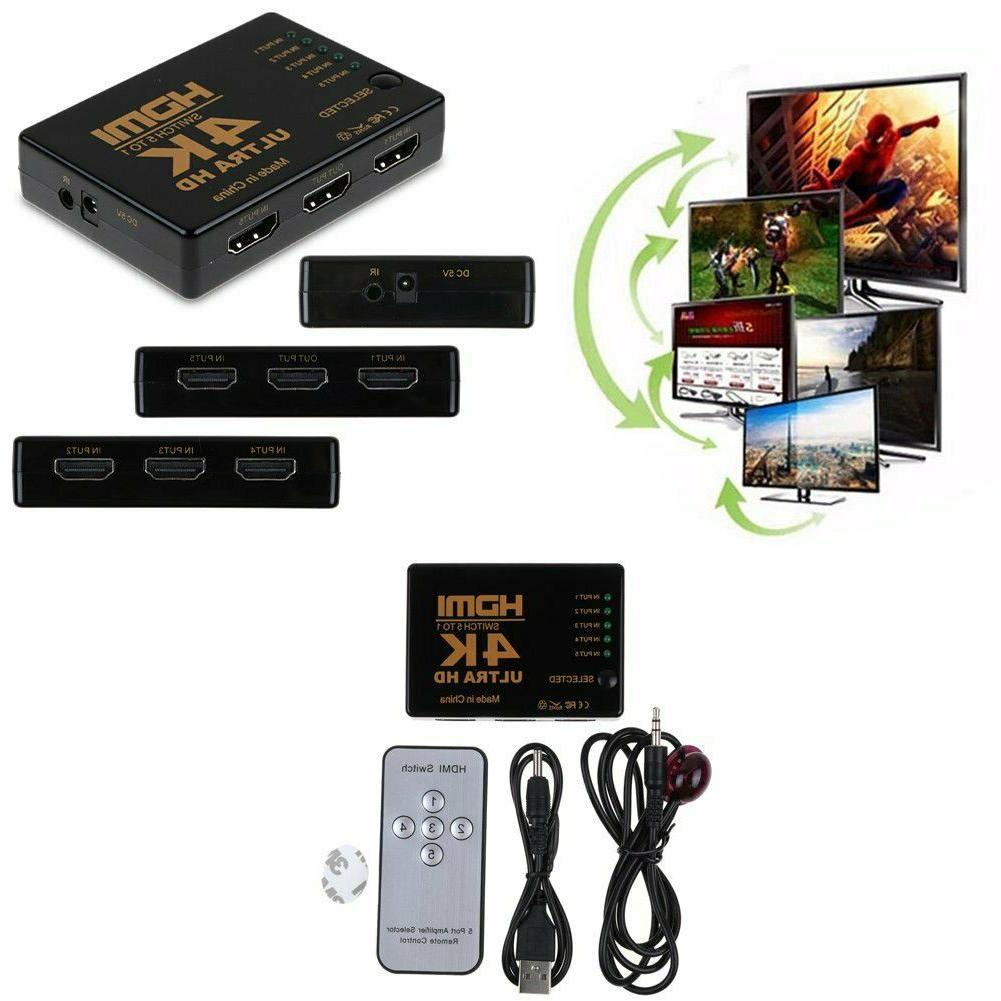 HDMI Switch Hub Cable Remote 5