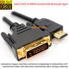 HDMI to DVI-D 24+1 Dual Link Cable Male Gold HDTV PC 3D 1080