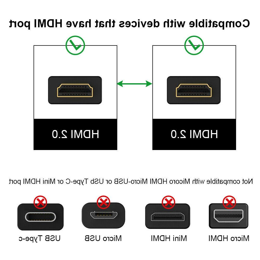 HDMI v2.0 High Speed 2160P 3D Xbox 360 Switch PS3 PS4
