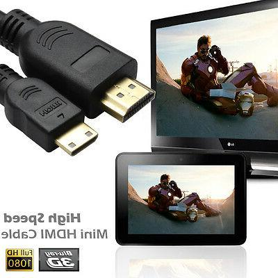 High Speed Mini HDMI Cable v1.4 3D Ethernet 1080p for Digita