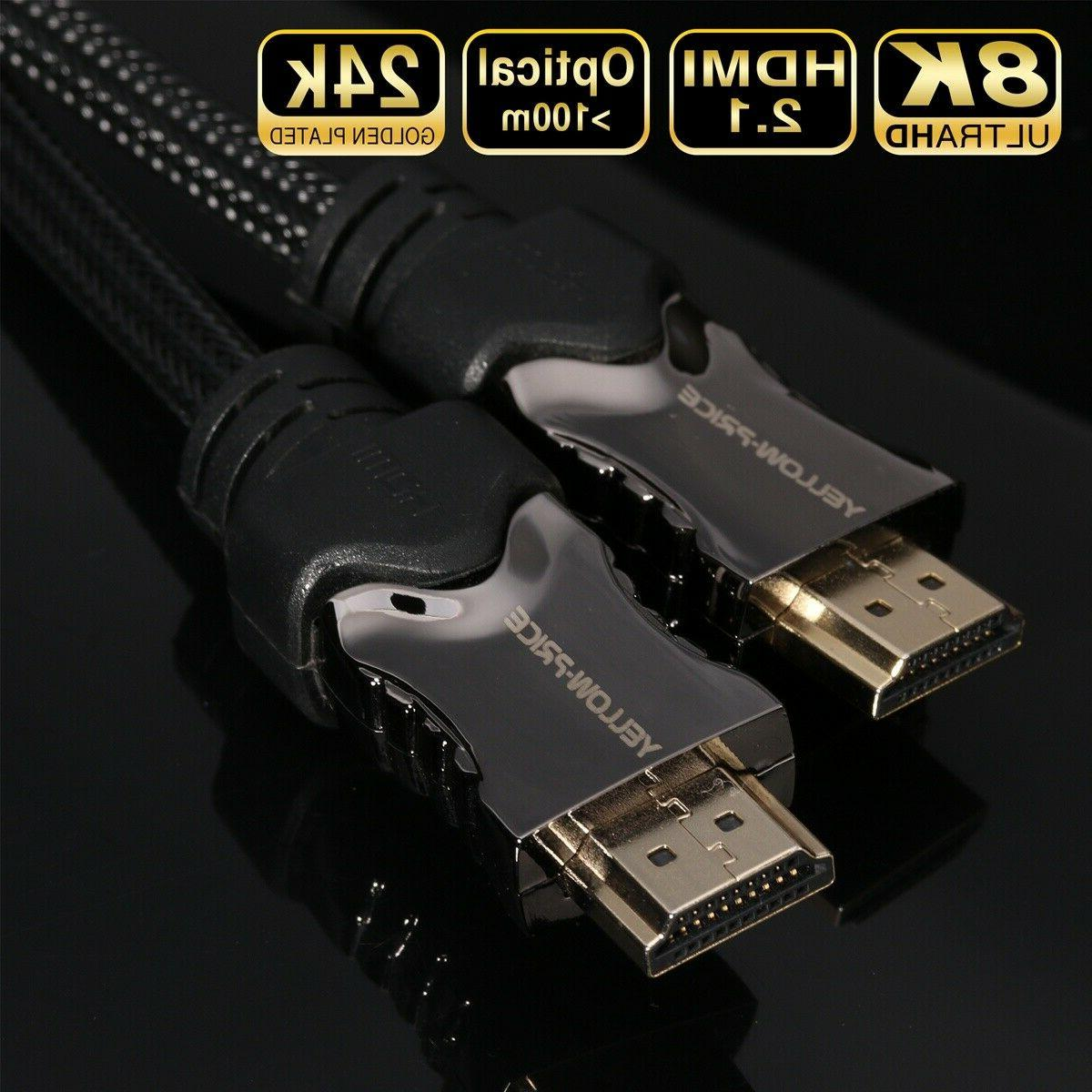 Lot Braided HDMI Cable v2.1 Speed HDTV 4K 3D PS4 HD