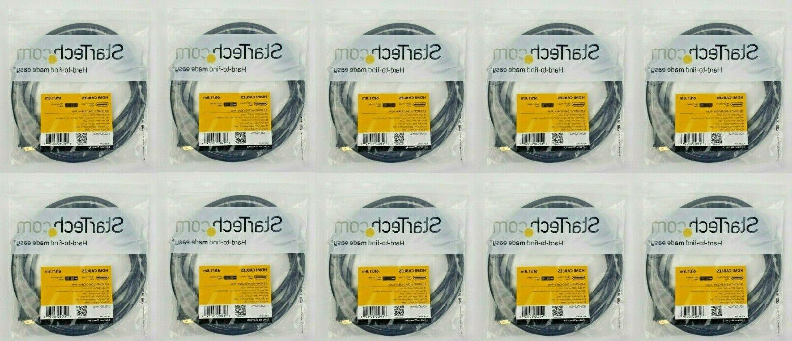 lot of 10 hdmidvimm6 6ft hdmi to