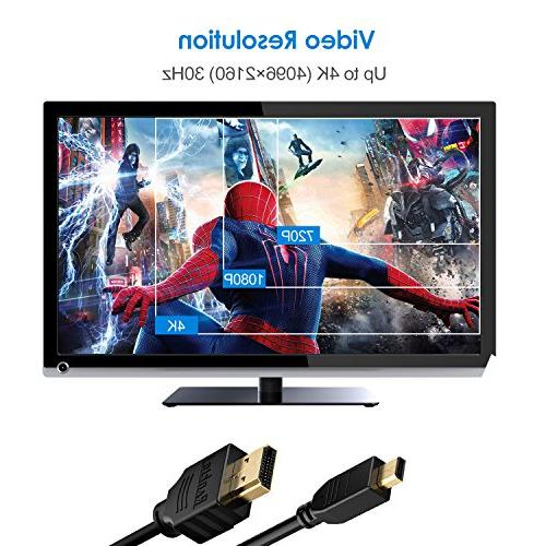 Rankie HDMI to HDMI Supports 3D, 4K and Audio Return, 15FT