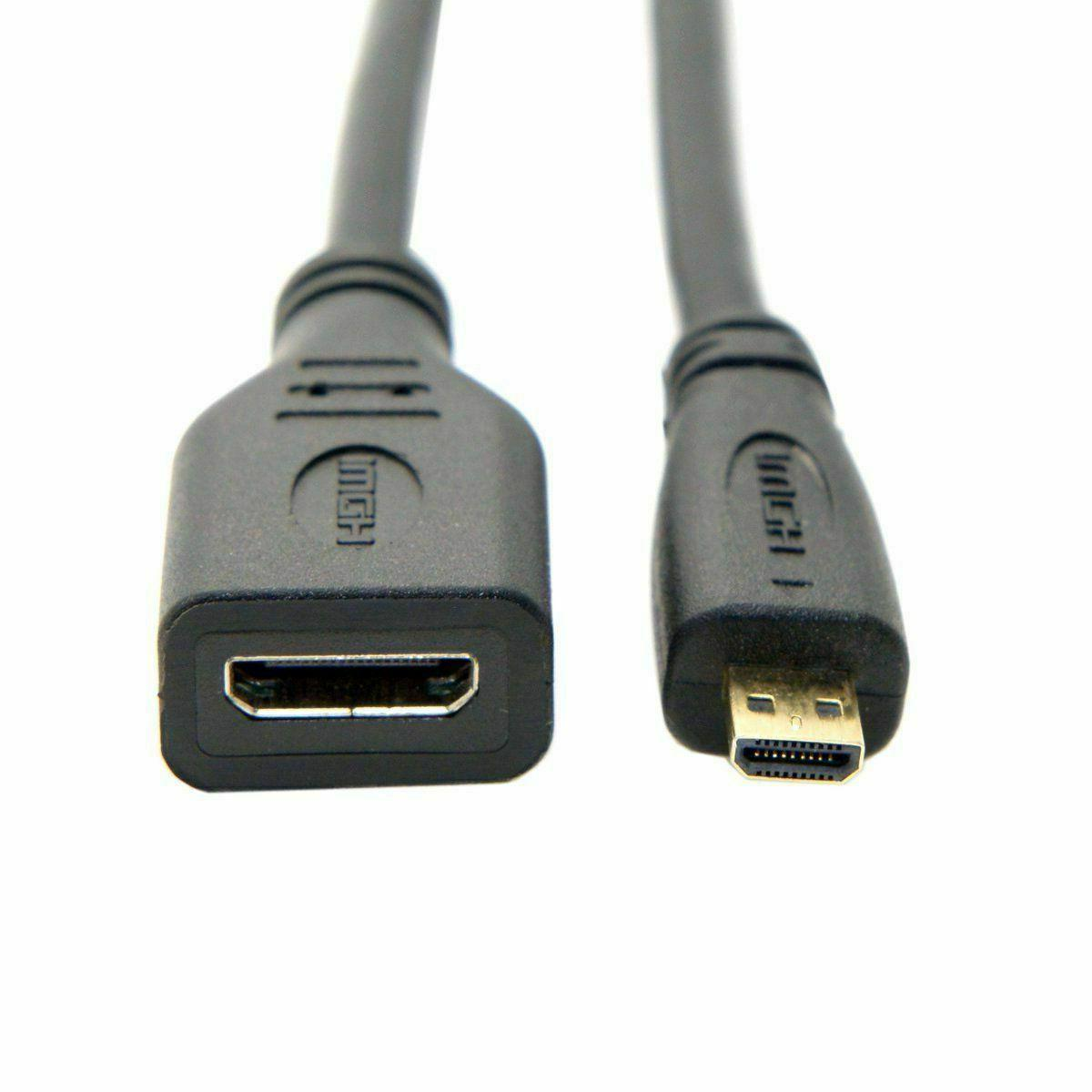 Micro HDMI Male HDMI A Female Converter