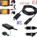 3M/10FT Micro USB MHL to HDMI HDTV Cable Adapter For Samsung