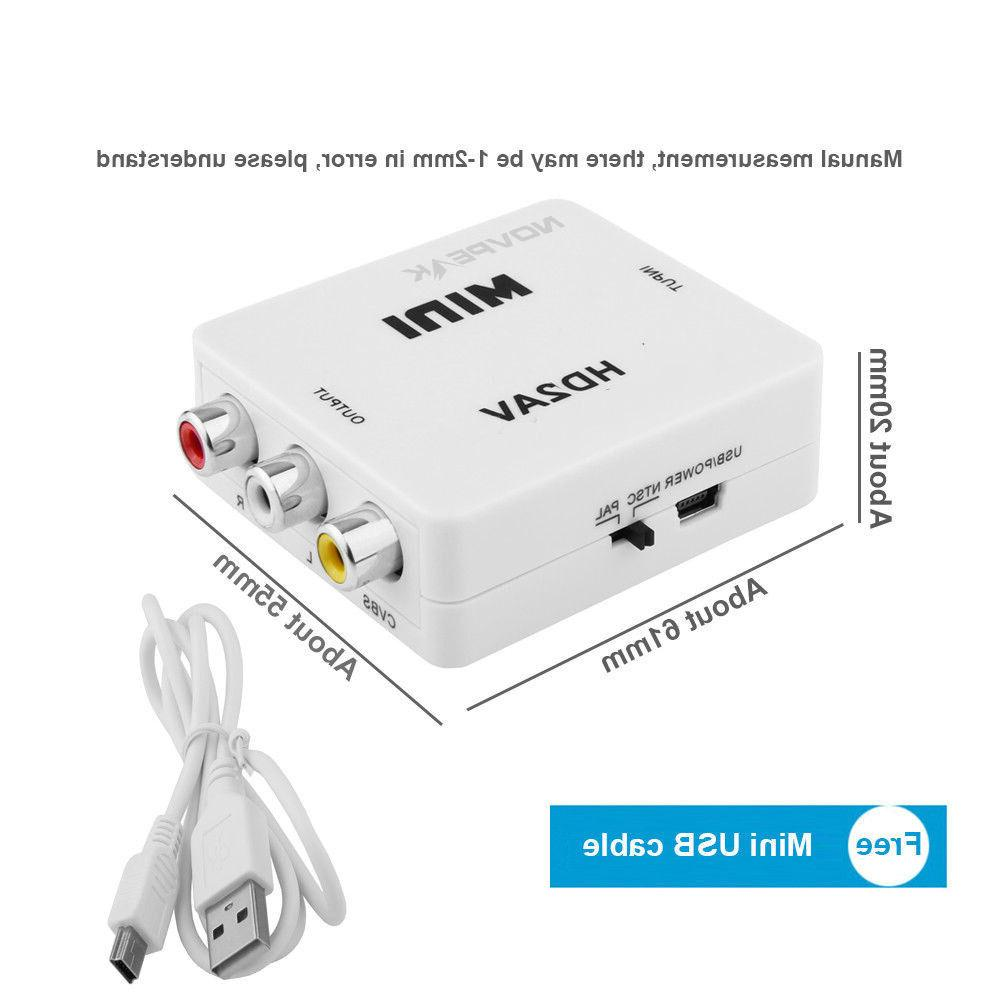Mini Composite 1080P to CVBS Adapter Converter For HD TV