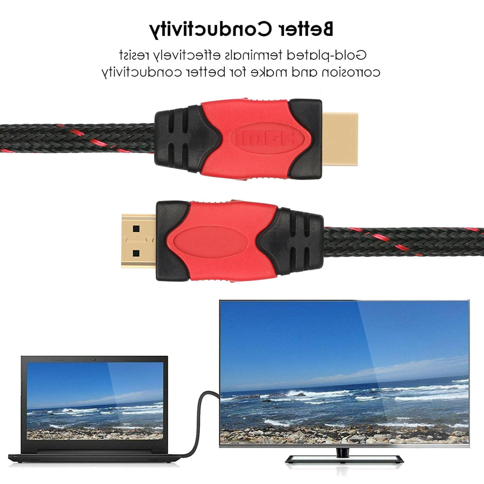 Multiple HDMI Cord High Speed Support