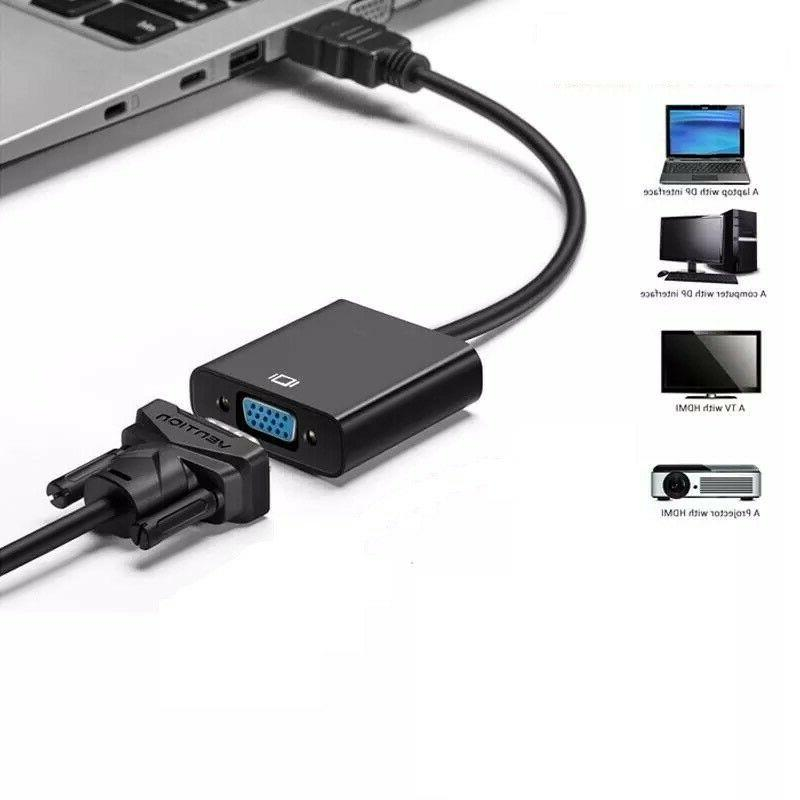 1080P HDMI Male to Cord Adapter For PC Monitor