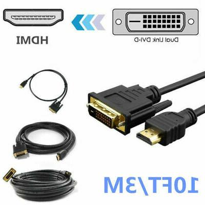 NEW HDMI 24+1 Pin Cable Male HD HDTV 10 15ft