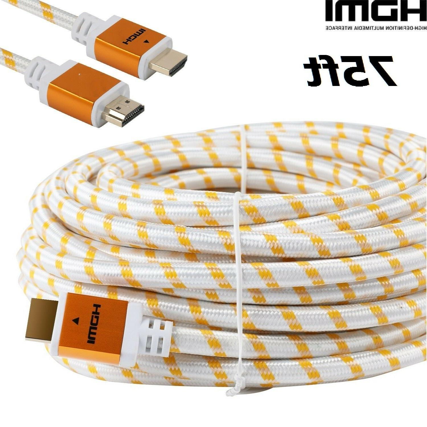 premium 75feet hdmi cable cord 75ft