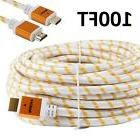 PREMIUM HDMI CABLE 100FT For 3D DVD PS3 HDTV XBOX LCD HD TV