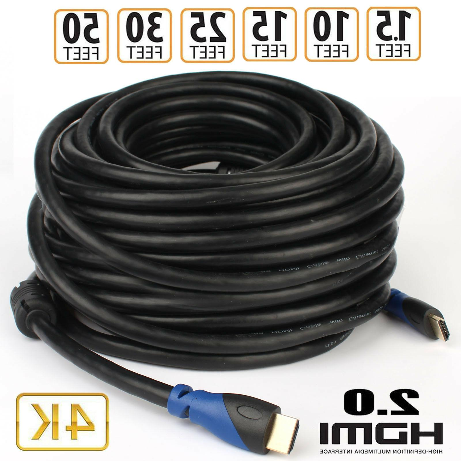Premium UHD 1.5ft 10ft 20ft 50ft CL3 Rated Lot