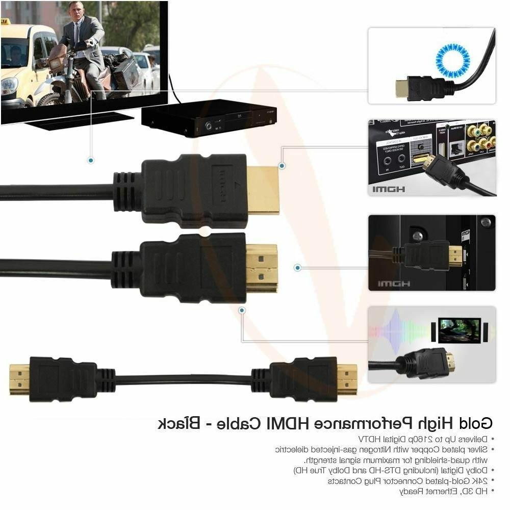 Premium HDMI Cable 10ft 25ft 50ft 100ft For HD TV Us