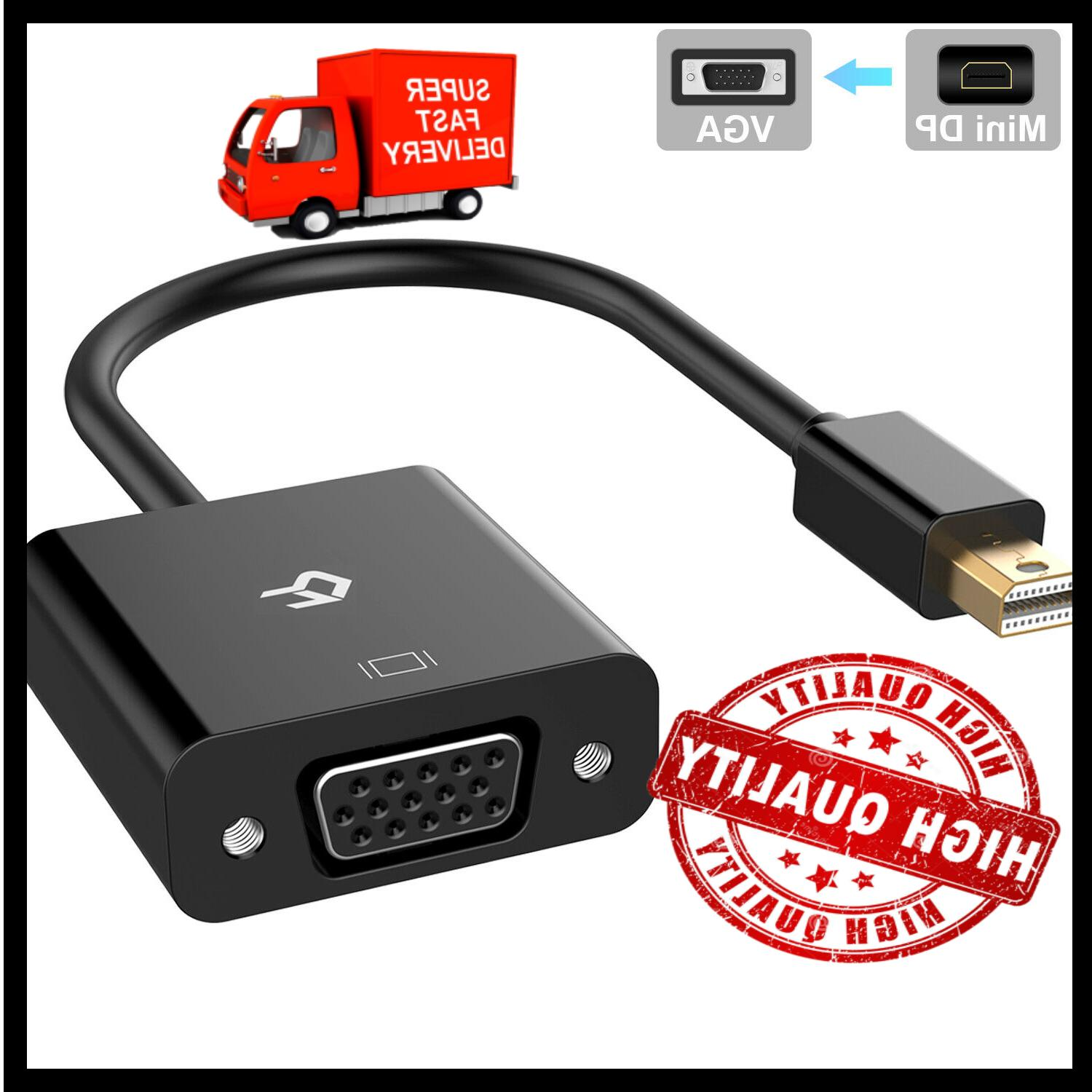 High Speed Thunderbolt Mini Display Port To VGA Adapter Cabl