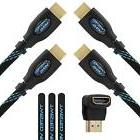 Twisted Veins Two  Pack of  High Speed HDMI Cables + Right A