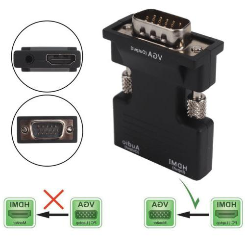 US 1080P to VGA Male Audio Output Adapter Lead