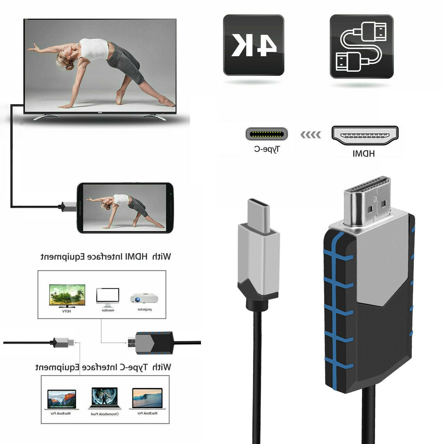 USB-C Type C to HDMI HD TV Cable Adapter For Android LG Sams
