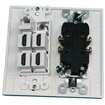 Wall Connectors 15A Outlet, Cable TV