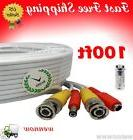 White 100ft Power & Video Cable for Security CCTV use / Zmod