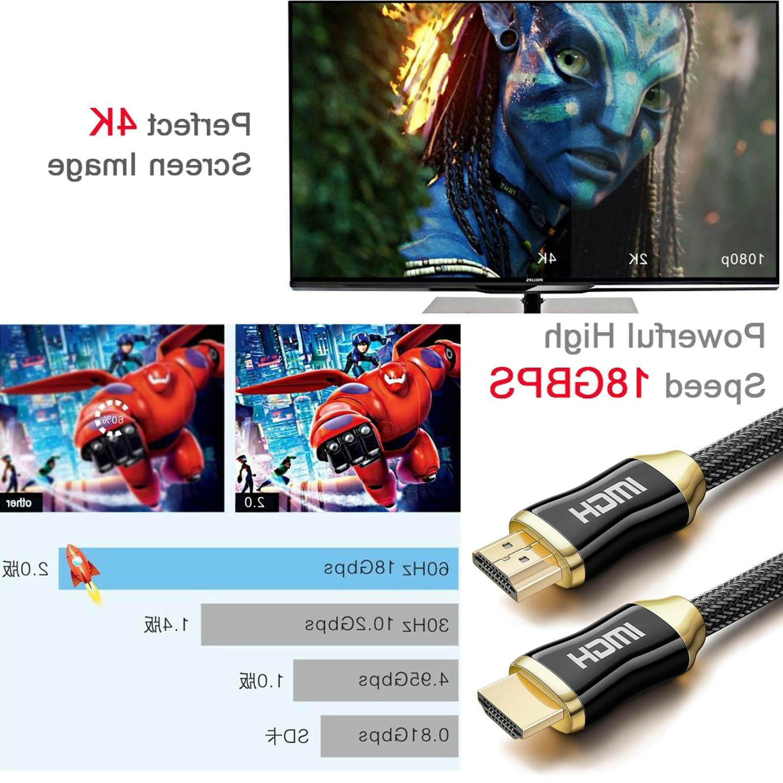 Braided HDMI v2.0a 18.2Gbps Lot