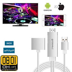 Lightning to HDMI Adapter Cable for IOS Android, Lexsong 3 i