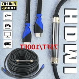 LOT 75FT 100 FT HDMI 2.0 Cable Redmere Chip Signal Booster C