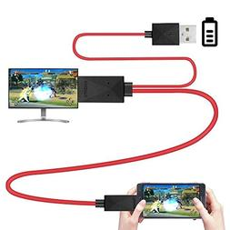 Rumfo 6.5 Feet MHL Micro USB to HDMI Adapter Converter Cable