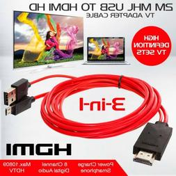 MHL Micro USB to HDMI TV AV Cable Adapter HDTV For Samsung G