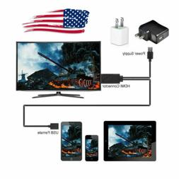 Micro Phone to HDMI TV Cable Adapter For Samsung Galaxy S9 S