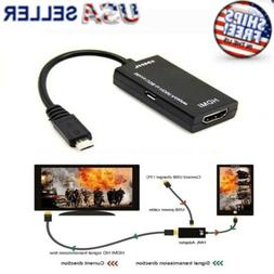 Micro USB To HDMI Cable MHL Adapter For Android Phone LG Hua