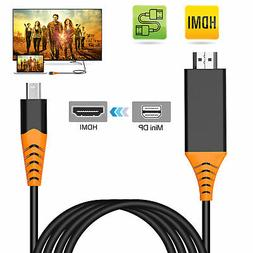 4K 6Feet DP Male to HDMI Male Cable Adapter Converter for HD