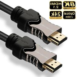 8K 4K HDMI Cable Cord Lot - 1ft 3ft 6ft 10ft 15ft 25ft 30ft