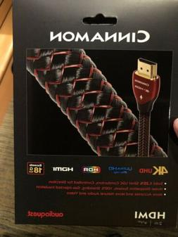 New!! AudioQuest Cinnamon 2M  HDMI 4k UHD, HDR, HDCP 2.2, 1