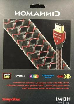 "NEW AudioQuest - Cinnamon 6'7""  4K Ultra HD HDMI Cable - Bla"
