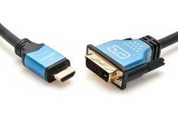 NEW BlueRigger High Speed HDMI to DVI Adapter Cable