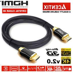 NEW Premium HDMI Cable v2.0 High Speed Gold HDTV UHD HD 2160