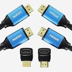 FASTSEVEN HDMI Cable 6ft 2-Pack 4K Ultra High Speed HDMI 2.0